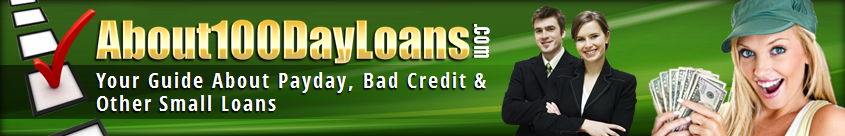 About100DayLoans.com header image